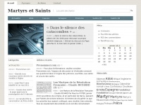 Martyrs et Saints | La Liste des Saints