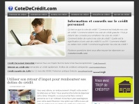cotedecredit.com