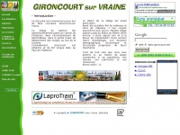 GIRONCOURT sur VRAINE, Vosges, Lorraine, France : Accueil / Welcome