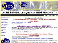 SIES SYNDICAT INDEPENDANT ENSEIGNEMENT SECONDAIRE SECOND DEGRE NATIONAL