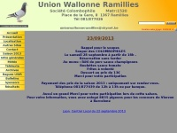 Union Wallonne Ramillies Accueil