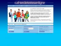 Cahierdetextesenligne.fr