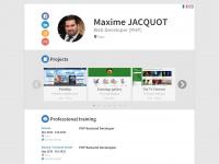 Maxime JACQUOT - Développeur / Intégrateur web