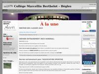 À la une « Collège Marcellin Berthelot  –  Bègles