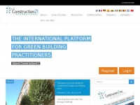 Construction21, the social media for sustainable buildings and cities