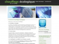 chauffageecologique.com
