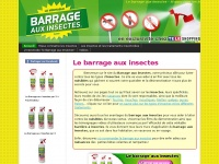 barrage aux accueil le barrage aux insectes. Black Bedroom Furniture Sets. Home Design Ideas