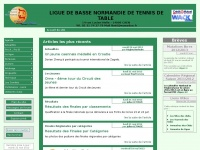 Ligue de basse normandie de tennis de table - Ligue basse normandie tennis de table ...