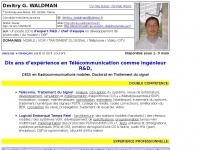 Dmitry G. Waldman, Resume / CV - Français, Ingénieur Télécom, Traitement du signal, Logiciel