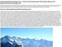 professionnels-du-mariage.com
