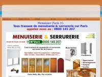 menuisier paris 15 tel 01 40 64 93. Black Bedroom Furniture Sets. Home Design Ideas