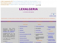 Lexalgeria.free.fr - LEXALGERIA, le portail du droit algérien