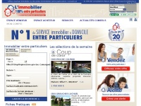 Immobilier100pour100entreparticuliers.fr